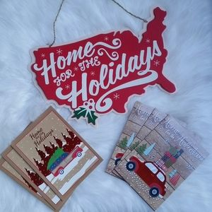 Home For The Holidays Faux Wooden Decor (13 pc)